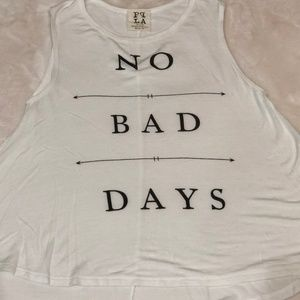 Nordstrom PPLA No bad days white tank top